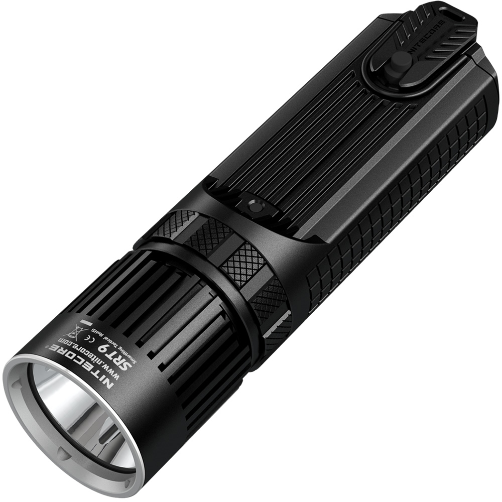 NITECORE SRT9 2150 lumens With Red/Blue Warning Light CREE XHP50 LED Gear Hunting Law Enforcement Military Flashlight Lantern инструменты для маникюра и педикюра divage пилочка для ногтей dolly collection цвет синяя variant hex name 3956ef