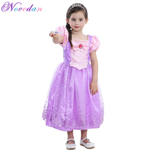 Girls Sophia Princess Dress Cinderella Costume Belle Sofia Princess Cosplay Dresses Children Carnival Halloween Party Costume цена 2017