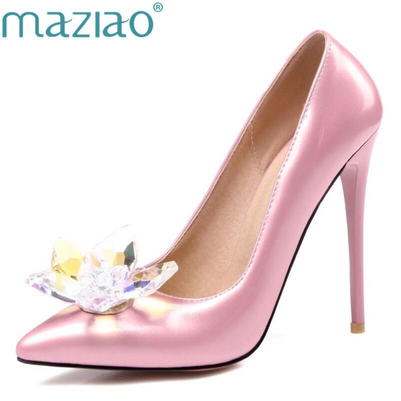 Новые туфли на высоком каблуке со стразами, женские туфли лодочки с острым носком, женские свадебные туфли со стразами, каблук 12 см, большие