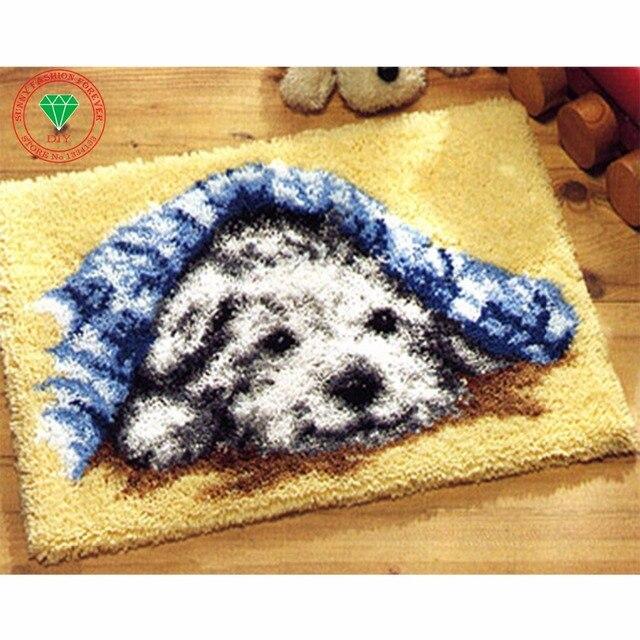 Diy Рукоделие вышивка крестом вышивка тема комплекты Ковер вышивка Лоскутное ковер вышивка крестом подушка ковры ковры Милая Собака