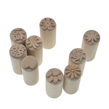High Quality Solid Wood Stamp Flower Leaf Pattern Texture Emboss Sculpture Model Ceramic Pottery Polymer Clay Tools