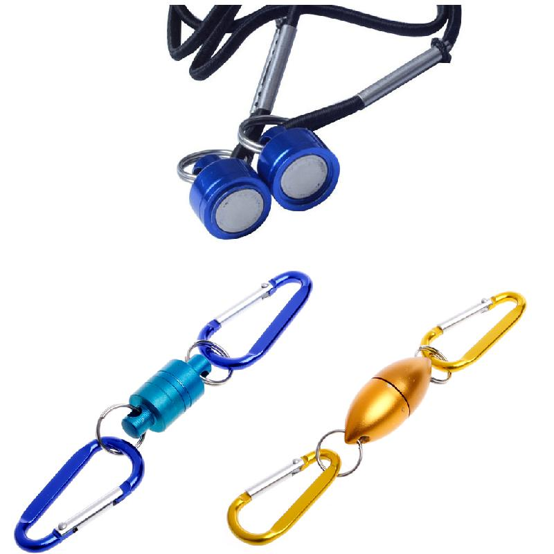 Fly Fishing Solid Magnetic Buckle Net Release Clip Hanging Buckle Tackle Holder quick release magnetic clip