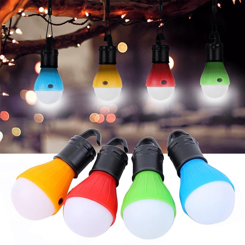 Mini Portable Emergency Camping Tent Soft Light Outdoor Hanging SOS 3 LED Lanters Bulb Fishing Lantern Hiking Energy Saving Lamp