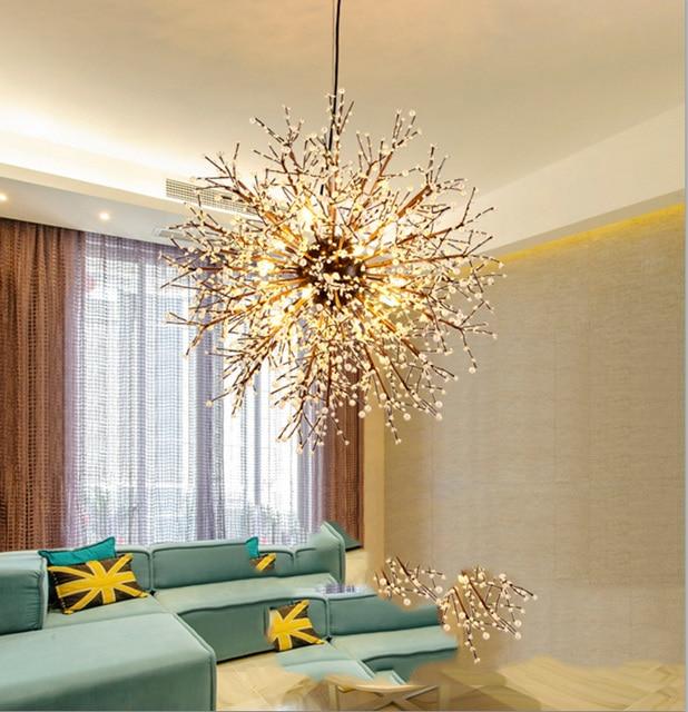 Kreative Doppel Farben Multi Spezifikation Licht LED Eisen Kronleuchter Für  Wohnzimmer Dekorative Beleuchtung Löwenzahn Deckenleuchte