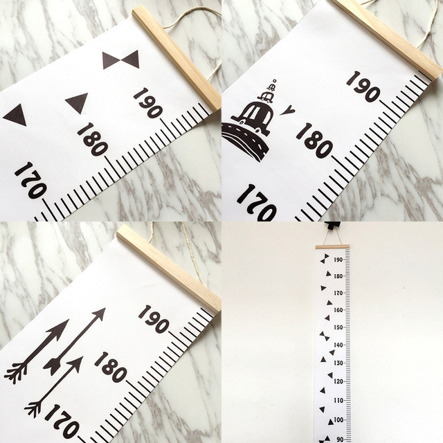 1pcs Wall Stickers 20200cm Baby Height Growth Chart Hanging Rulers