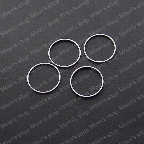 (13078)Free Shipping Wholesale Handmade Findings & Components Copper Imitation Rhodium 14MM Round Closed Jump Rings 100PCS