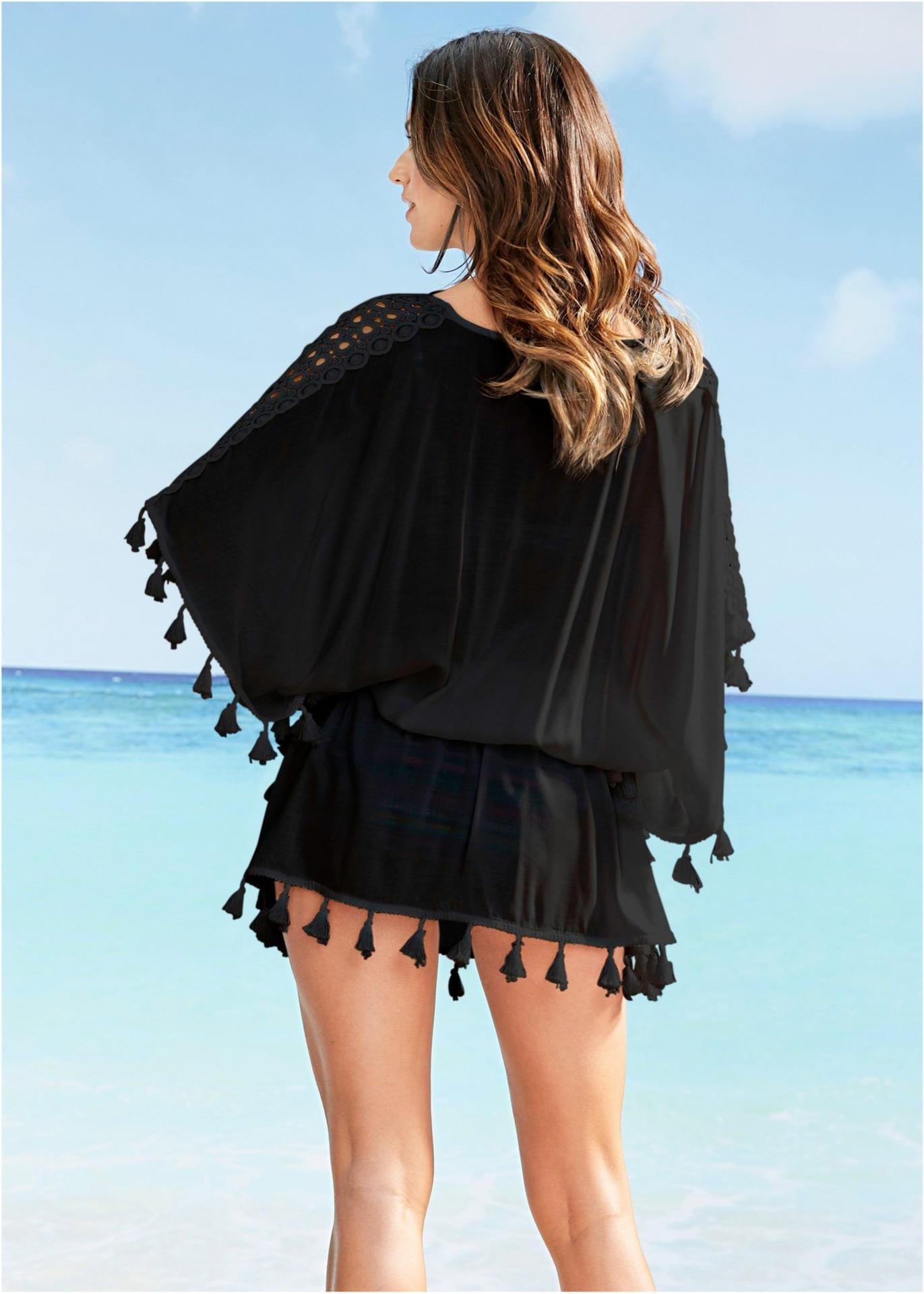 35f2ac3874f Beach Dresses 2019 Casual Fringe Boho Dress Plus Size Woman Beach ...