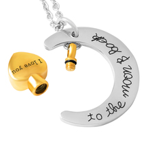 I Love U To the Moon & Back Urn Necklace