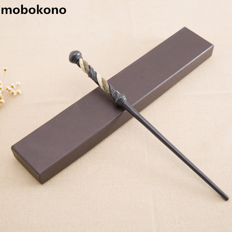 mobokono New Arrive Metal Iron Core Alecto Carrow Wand Harry Potter Magic Magical Wand Gift Box Packing