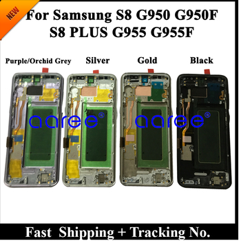 100% Original Super AMOLED LCD For Samsung S8 G950 LCD S8 G950F LCD For Samsung S8 Display LCD Screen Touch Digitizer Assembly