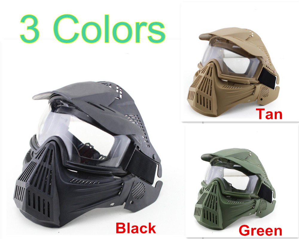 Airsoft Protective Full face Mask Guangzhou full-face Safe mask with Goggle for outdoor CS survival war game masks