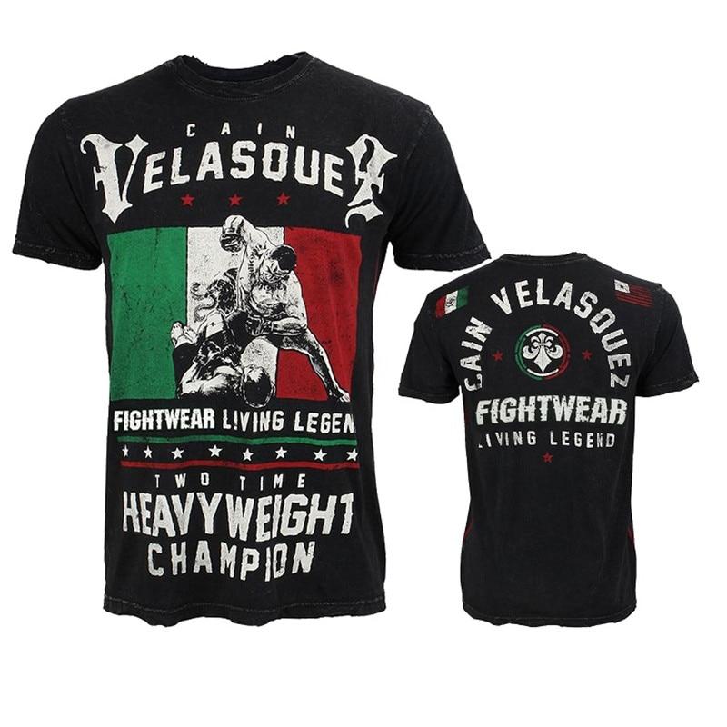 Cain Velasquez Short Sleeve Mens T-Shirt MMA Fighting Workout UFC Fight Muay Thai Sanda Tops 2018 New Casual T Shirt Modal L~4XL