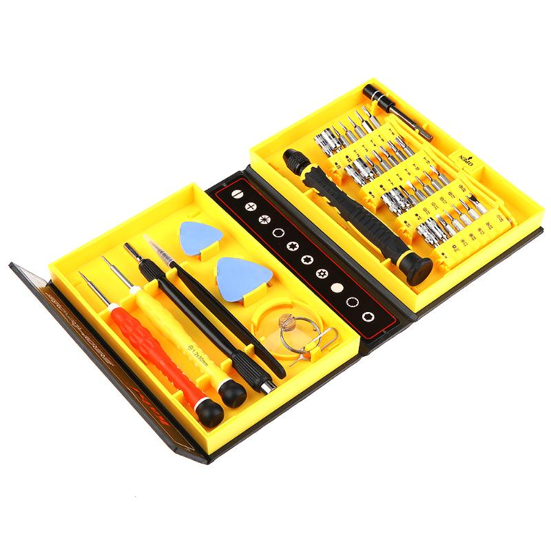 38 in 1 Precision Screwdriver Set Toolbox Opening Pry Magnetic Electronics Repair Tools Kit for Mobile Phone Computer