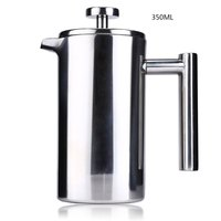 350ML Espresso Coffee Maker Pot Practical Stainless Steel Cafetiere Double Wall Insulated Tea Coffee Maker With