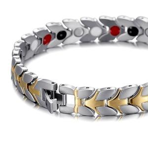 Image 4 - RainSo Unisex Hologram Bracelets Relieve Fatigue Germanium Magnetic Bracelets & Bangles Steel Wristband Jewelry for Arthritis