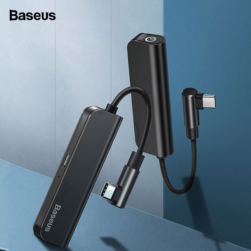 Baseus PD 18W USB C OTG Adapter USB Type C To 3.5mm Jack Type-c Aux Audio Connector For Xiaomi Mi 9 Samsung S10 S9 USBC Splitter