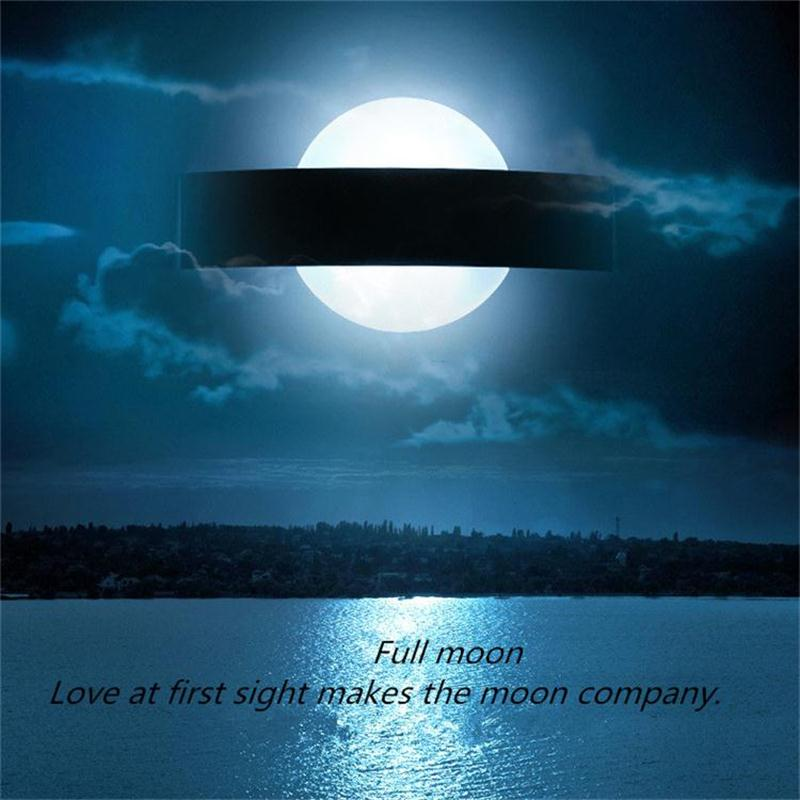 Modern Minimalist Led Wall Lamp 6W Moon Wall Light Bedside Reading Lighting Home Luminaire Bathroom Light Fixture Wall Sconce modern wall lamp glass ball led wall sconces bedside wall light fixture bedroom luminaria home lighting vintage lamp