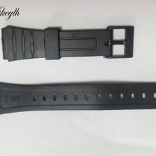 16/18/20mm Watchband For CASIO Silicone Rubber Band Sports W