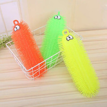 Best Selling Night Market Luminous Children's Toys 33cm Large Caterpillar Venting Net Red With The Fun New Exotic Flash Toy(China)