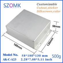 1 pcs, szomk aluminum control enclosure instrument boxes 58*180*130mm extrusion enclosure electronics aluminum junction box