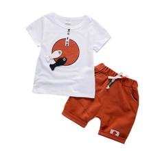Chlapecké oblečení Gentleman Summer Dámské oblečení pro volný čas Dětské sportovní obleky Kreslené krátké rukávy Tričko + kalhoty Dětské oblečení Set