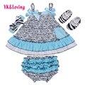 Honda Recién Nacido Equipo de La Muchacha Sin Mangas de La Colmena Top + Bloomer + Diadema + zapatos de bebé 4 unids ropa infantil de algodón causal dress yi