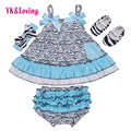 Sling Newborn Girl Outfit Sleeveless Ruffle Top + Bloomer + Headband + Baby Shoes 4 Pcs Cotton Infant Clothing Causal Dress Yi
