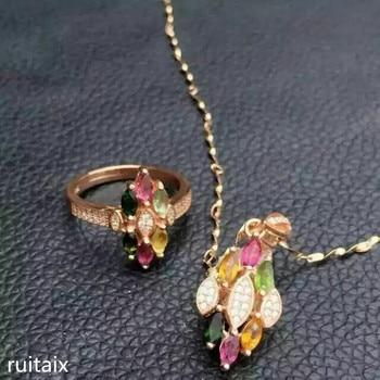 ce6523159ba1 KJJEAXCMY boutique joyas S925 plata incrustaciones de turmalina natural  diamante La Joyería oro plata.