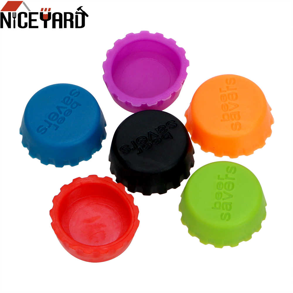 NICEYARD 3cm 6Pcs/Set Bottle Cover Wine Stopper Silicone Beer Bottle Cap Vinegar Soy Corktail Lid Preservative Cover