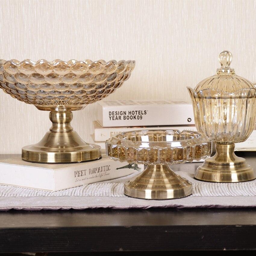 XXXG evropský styl ovoce talíř obývacího pokoje bytové doplňky tři sady křišťálového skla cukroví jar model měkké