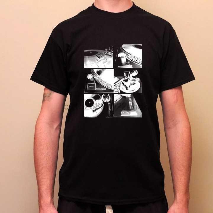 Płyta winylowa gramofon Dj gramofon Dj deck miłość winyle-koszulka z nadrukiem w stylu Retro koszulka męska