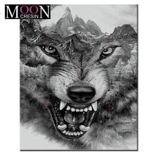 MOONCRESIN Worf 5D DIY Diamond Embroidery Tiger Animal Painting Cross Stitch Full Square Drill Rhinestone Mosaic Decoration Kits стоимость
