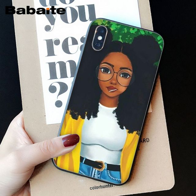 OUJDA Mélanine Poppin Aba fille DIY Impression Dessin Phone Case cover Shell pour iPhone 6 s 6 plus 7 7 plus 8 8 Plus X Xs MAX 5 5S XR 2