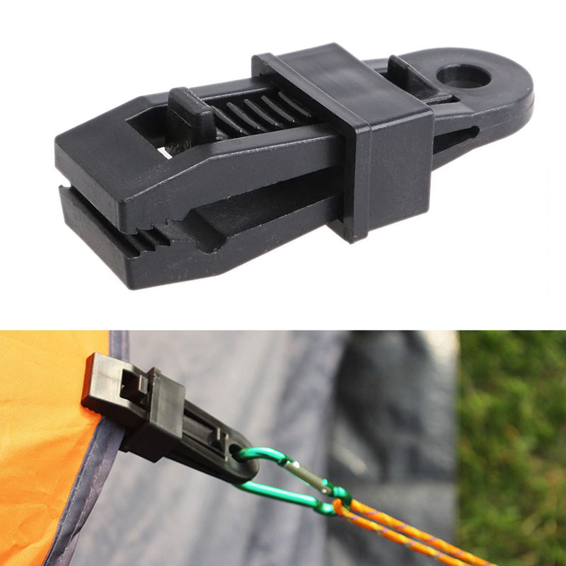 Brave 5pcs Plastic Tent Accessories Outdoor Awing Tarpaulin Tarp Tent Clips Tents Wind Rope Clamp Clip Snap Black Camping & Hiking Back To Search Resultssports & Entertainment
