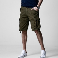 2019 Summer Men's Cargo Shorts Casual Plaid Shorts Fashion Pockets Classic Lattice Wash Shorts S6CS022