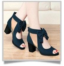 Livraison gratuite 2016 femmes d'été de chaussures talon épais à bout ouvert bottes haute talons dentelle perlée bottes fraîches gaze découpe sandales