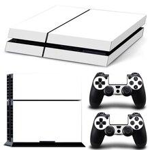 Чистый белый для PS4 наклейка PS4 кожа PS4 наклейка s для Playstation 4+ 2 шт контроллер кожа консоль наклейки PS4 защитная кожа