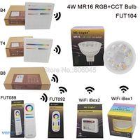 MiLight MR16 4W RGB CCT LED Bulb Spotlight FUT104 AC DC12V Full Color Remote Control Smart