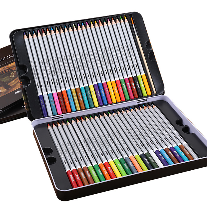 24 36 48 72 Colors deli Paint Pencils Water soluble Colored Pencil Lapis De Cor Color