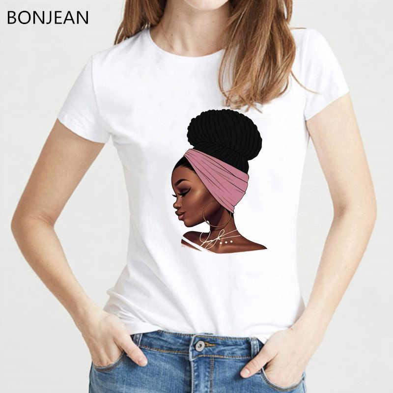 メラニン Poppin' 女性のための Tシャツファム原宿メラニンポッピンシャツブラックガールプリント tシャツ夏トップスフォロー服