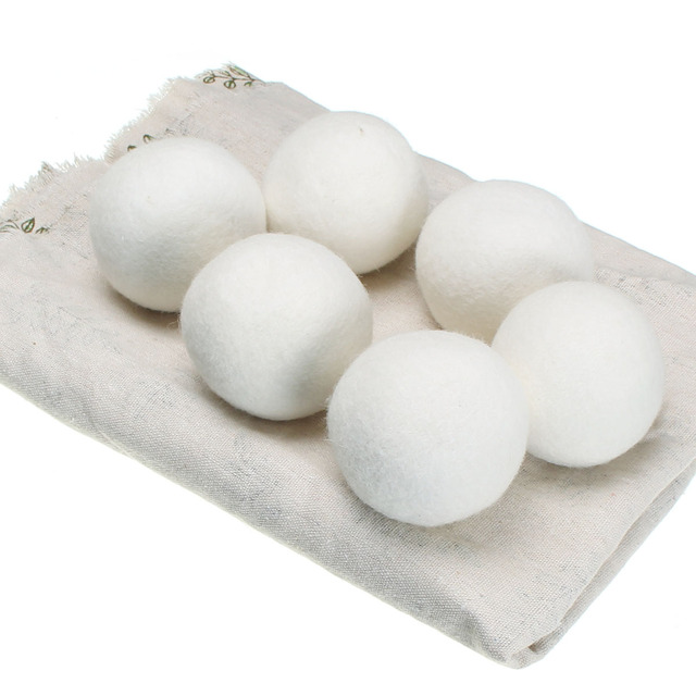 Conscious Home Reusable Wool Fabric Softening Dryer Balls (6pc)