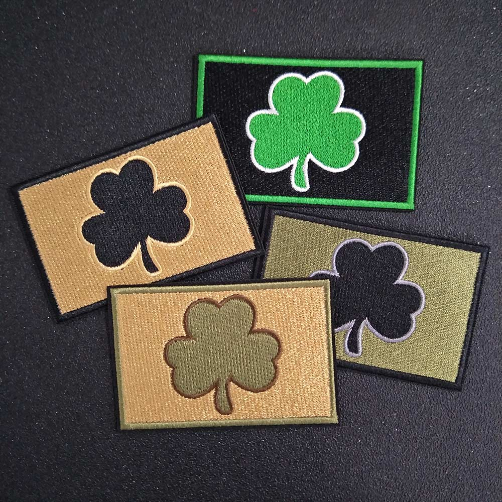 US $4 99 | Hook&Loop Fastener Ireland Subdued Irish Clover Mutlitan  Tactical Patch Army Military Morale Badge-in Patches from Home & Garden on