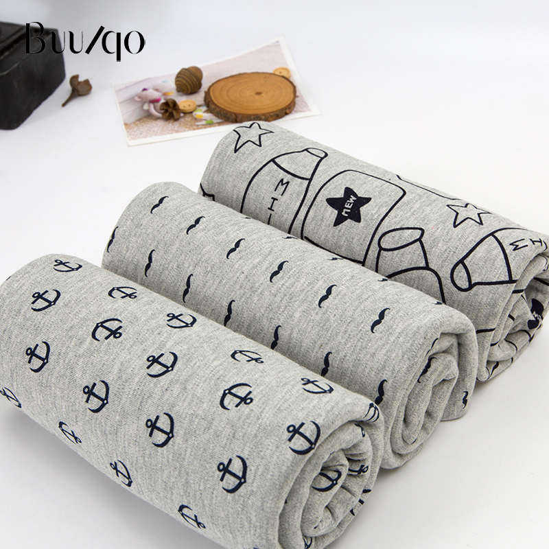 Hot sale grey series 100% cotton knitted fabric baby cotton knitted jersey fabric for cotton clothing making material 50*170cm