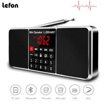 Lefon Digitale Draagbare Radio Am Fm Bluetooth Speaker Stereo MP3 Speler Tf/Sd kaart Usb Drive Handsfree Oproep Led display Speakers