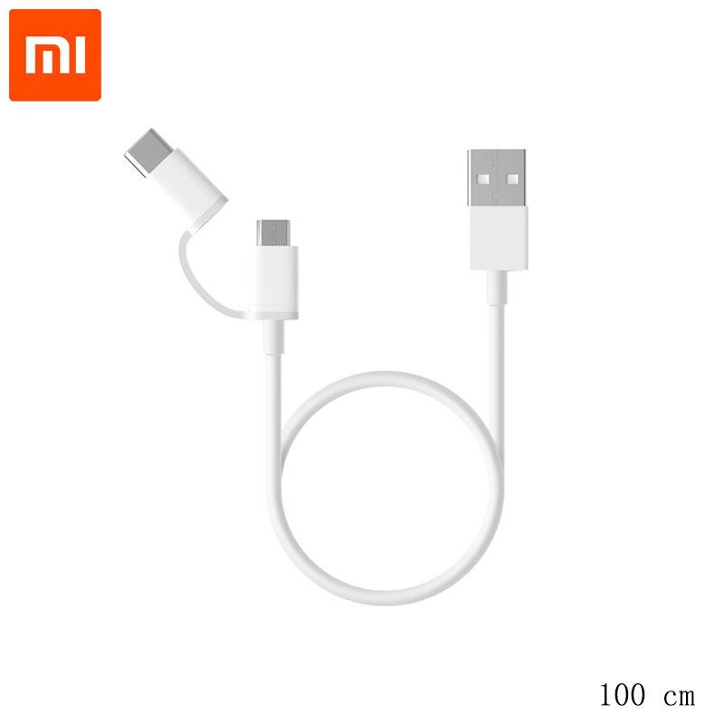 WunderschöNen Original Xiaomi Typ-c Micro Linie 100 Cm Power Bank Daten Kurzen Draht Lade Linie Universal Daten Kabel Micro Für Mi6 Xiaomi 8 Se Profitieren Sie Klein