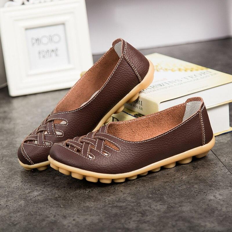 À Trous Avec En Creux 3 Doux 4 Main Plat Été La Chaussures Des Sandales Respirant 5 Cuir 6 42 2 1 7 IOwAPqA