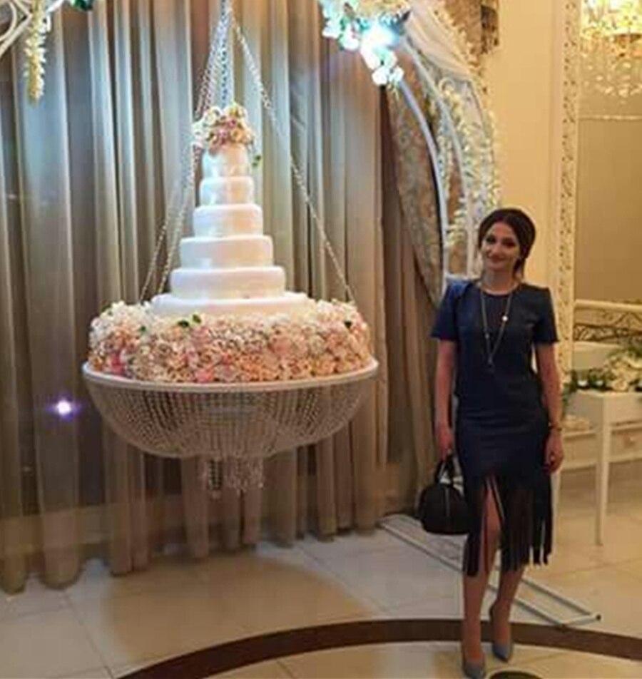 Новый стиль диаметр 24 (60 см) стеклянная хрустальная люстра стиль драпировка Подвесные качели торт стенд круглый
