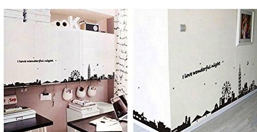 Houten Muurdecoratie Slaapkamer : Verwijderbare muurstickers pvc slaapkamer sofa decoratie stad