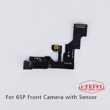 10ピース/ロットライト近接センサーフレックスケーブル小さなフロント直面してカメラlenマイクアセンブリ用iphone 6 sプラス5.5