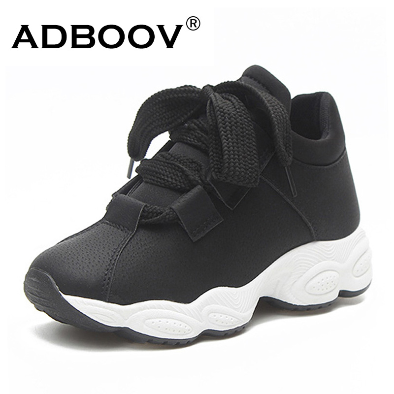 цена ADBOOV Trendy Sneakers Women Feelce Lining Winter Shoes Comfortable Ladies Platform Sneakers High Street Casual Shoes Woman